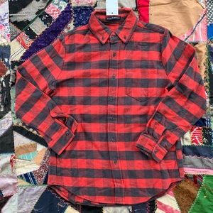 NWT Brandy Melville Red & Gray Flannel